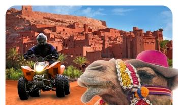 4 Jours : Merzouga - Les gorges Todgha - Kelâa des mgouna - Ouarzazate - Marrakech Du 24 au 28 Janvier 2018