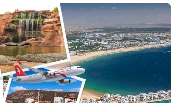 Week end par avion à Agadir Spécial Saint valentin à seulement 1499 DHs !