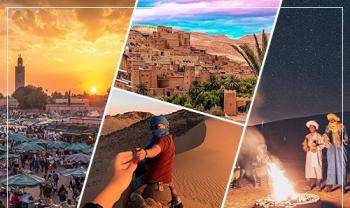 Spécial Vacances Scolaires 5 jours à Ouarzazate - Zagora - M'hamid El Ghizlane - Marrakech | Du 14 au 19 Mars 2021